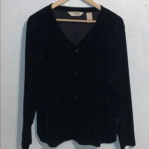 Bechamel Black Velvet Cardigan